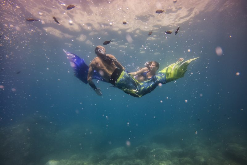 Swimming with mermaids in Cinque Terre